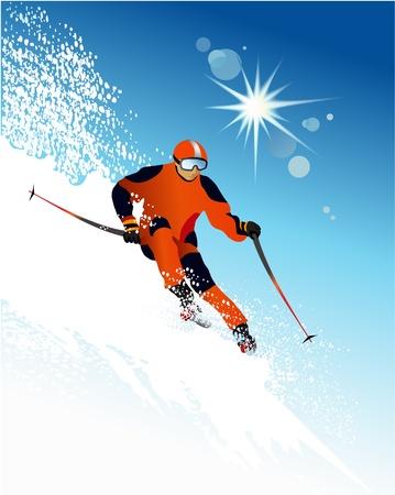 Skier Stock Vector - 14180337