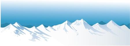 snowy mountains: Winter mountains