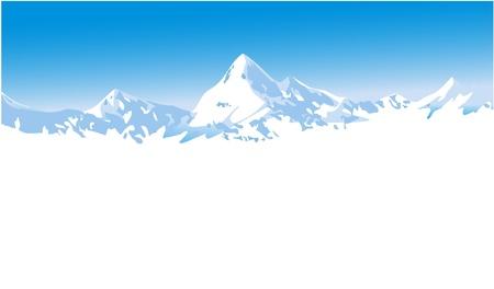 Winter mountains Stock Vector - 14477207