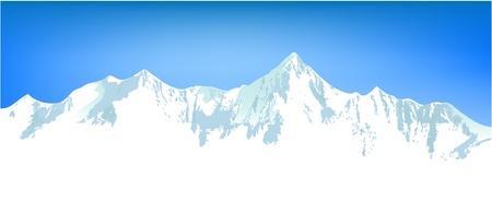 kârlı: Kış dağlar Çizim