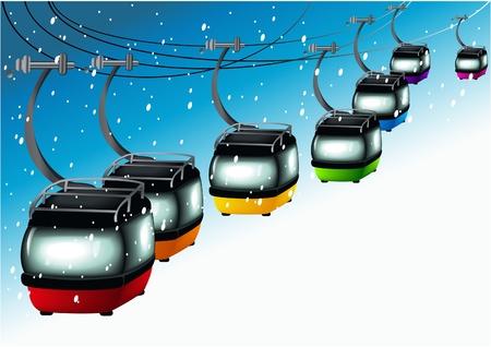 Rainbow gondolas Stock Vector - 14477217