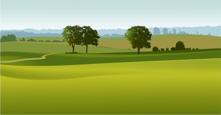 Rural landscape Stock Vector - 14477236