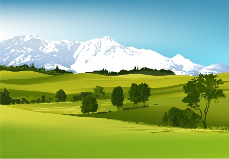 Mountain landscape  Stock Vector - 14477247