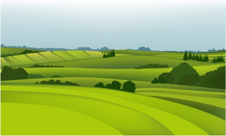 Rural landscape  Stock Vector - 14477237