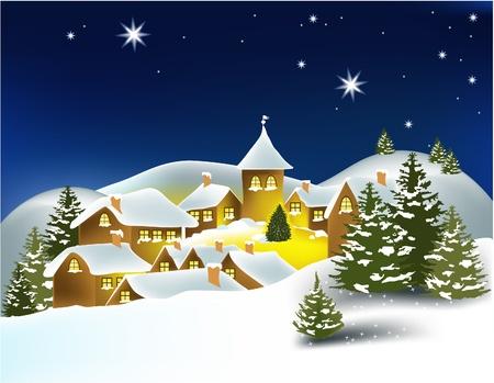 nuit hiver: Ville d'hiver