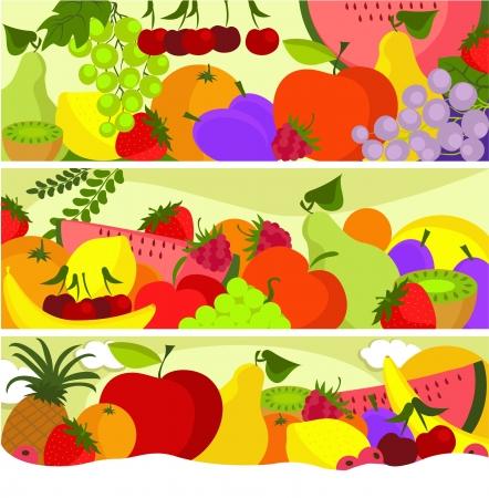 Fruit vector banners Stock Vector - 14765647