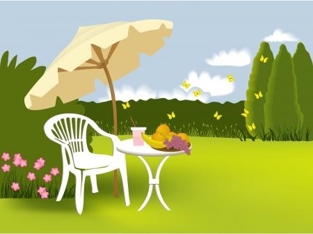 deckchair: Garden relaxing
