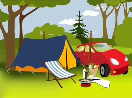 picnic park: Picnic place  Illustration