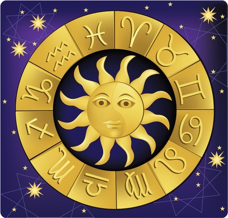 fortunetelling: Horoscope Illustration