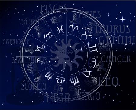 pisces star: Horoscope Illustration