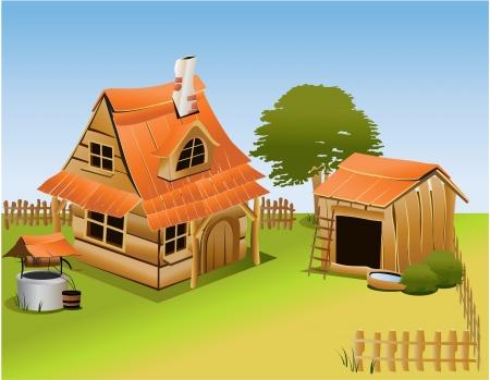 Cartoon boerderij Vector Illustratie