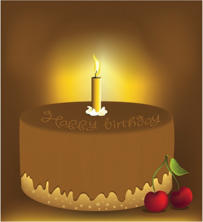 Birthday cake Stock Vector - 14765237