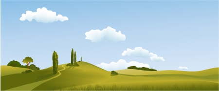Rural landscape Stock Vector - 14765242