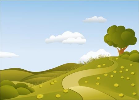rural road: Spring landscape