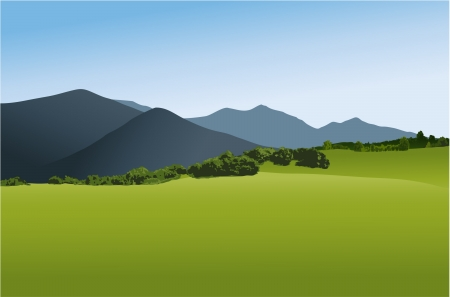 Mountain landscape Stock Vector - 14765635