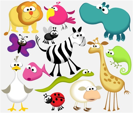 Funny cartoon animals Stock Vector - 15118465