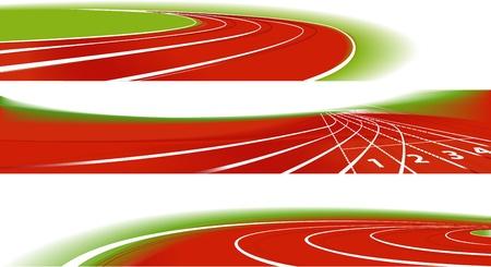 Deportes atléticos banners Ilustración de vector