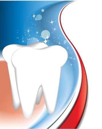 toothpaste: Tooth background  Illustration