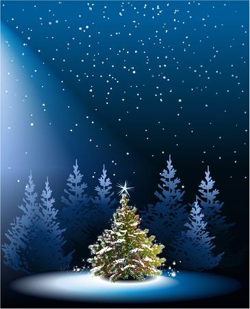 christmas blue: Christmas tree