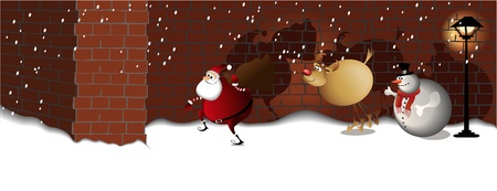 Santa Claus  street mission Stock Vector - 15753008