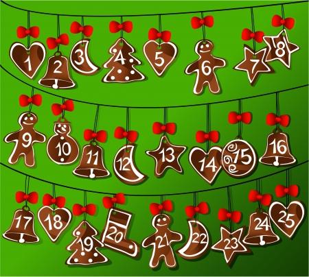ジンジャーブレッド クリスマス カレンダー