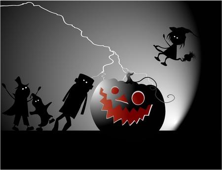 frankenstein: Halloween party  Illustration