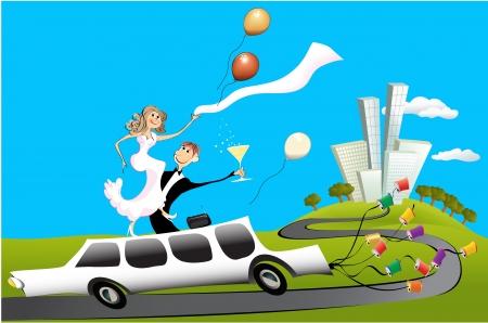 limo: Wedding day