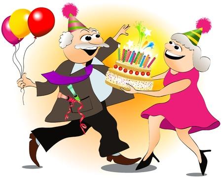 Grandfather s birthday  Ilustrace