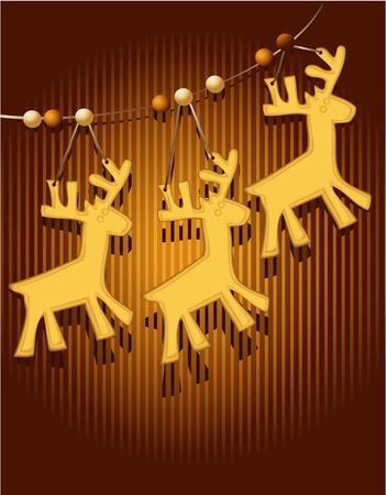 christmas cake: Christmas card with sweet cakes  Illustration