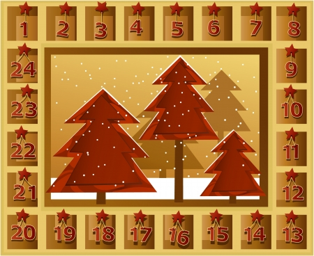 Christmas calendar Stock Vector - 16235727