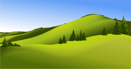 Rural landscape Stock Vector - 17313278
