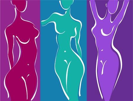 corps femme nue: Femme mince corps de