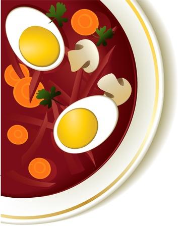 borscht: Delicious beetroot soup - borsch