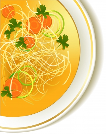 sopa de pollo: Chicken noodle soup