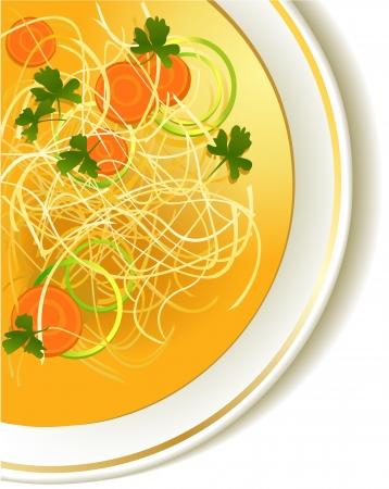 sopa de pollo: Chicken noodle soup