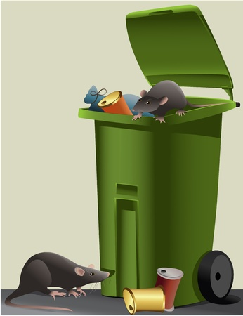 Rats in the rubbish dump Stock Vector - 18240953