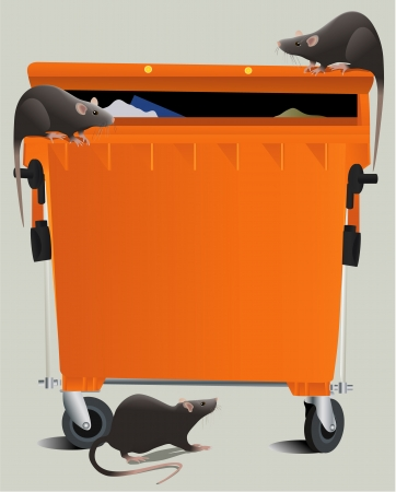 Rats in the rubbish dump Stock Vector - 18240941