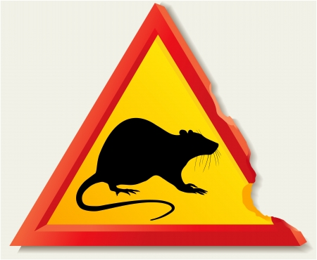 Road sign with rat Stock Vector - 18240954