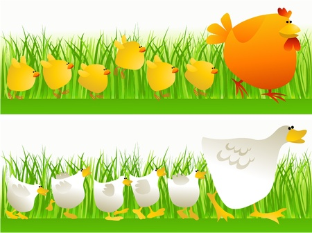Spring walking Vector