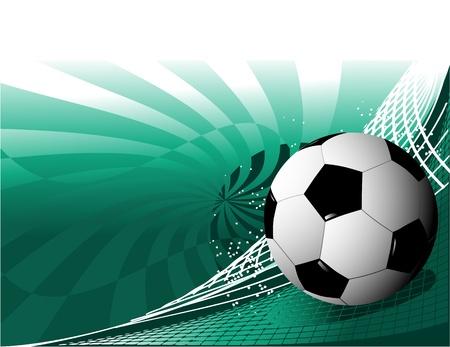bannière football: Résumé fond de football Illustration