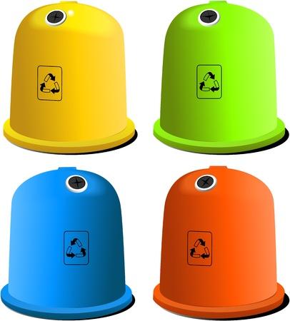 Recycle bins Stock Vector - 18706888