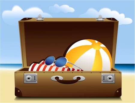 beach bag: Summer luggage