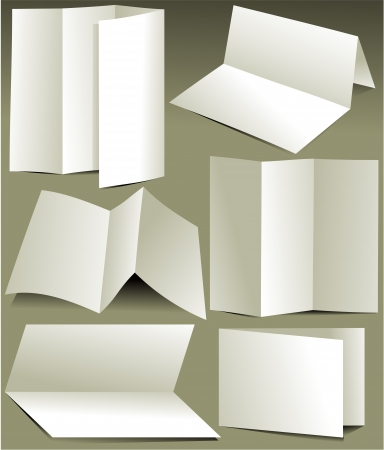 Blank white brochures Vector