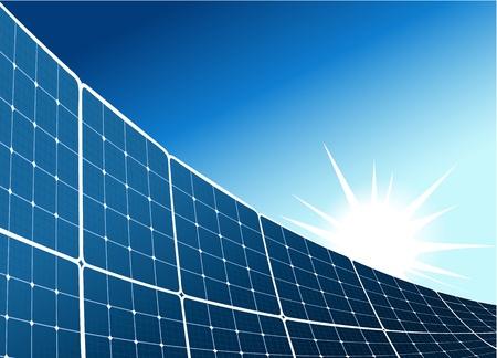 energia solar: Fondo colector solar Vectores