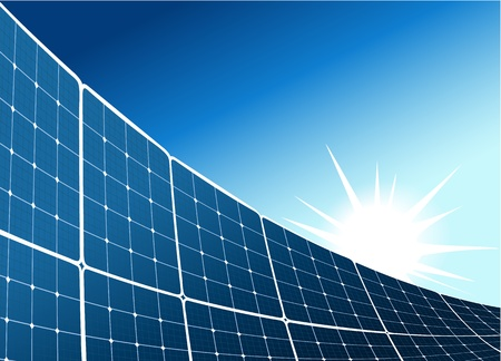 Solarkollektor Hintergrund Standard-Bild - 21433733