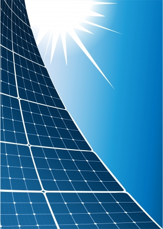 solar power station: Solar collector background Illustration