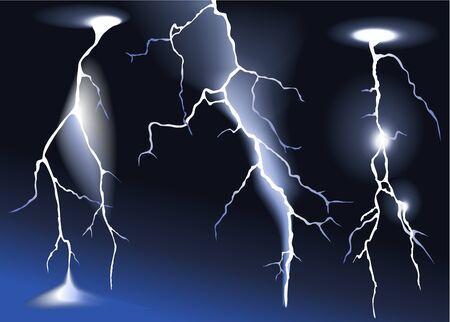 lightnings: Three vector lightnings