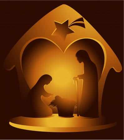 Nativity scene  Stock Vector - 21777081