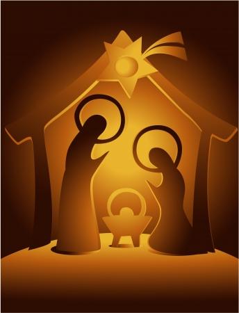 sacra famiglia: Nativit? Vettoriali