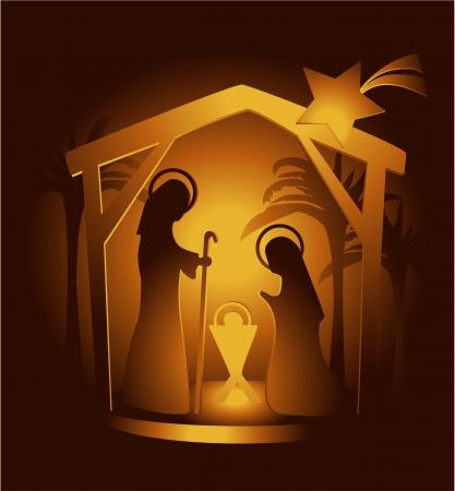 betlehem: Weihnachtskrippe Illustration